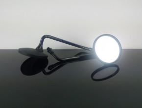 2 Spiegel, rund, M10, Rechtsgewinde, schwarz