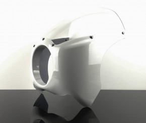 Retro white Handlebar / Bikini Fairing, second quality