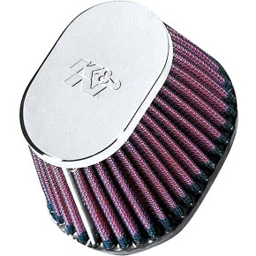 Oval K&N performance air filter, 53-57 mm