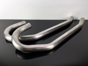 2 Cafe-Racer DOWNPIPES, stainless steel, for BMW-R