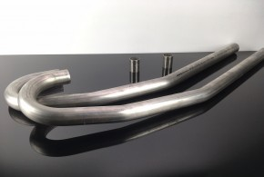 2 DOWNPIPES, stainless steel, for BMW-R, D=42,4mm