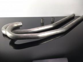 2 Edelstahl-KRÜMMER für BMW-R Modelle / 2-Ventiler, D=42,4 mm