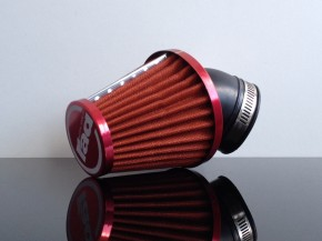 Performance AIR FILTER, app. 45-52mm, 45°connection, RED
