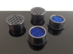 AirVents, 25mm Diameter, with filter elements, 4 Pieces