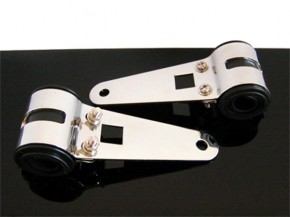 LAMPENHALTER/headlight brackets, 37-42mm, chrom
