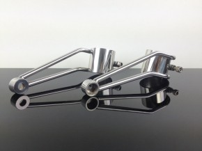 Stainless steel HEADLIGHT BRACKETS35mm SR500 and XS650