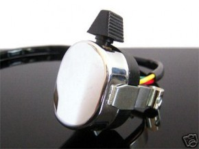 Handle bar switch for indicators, chrome