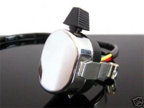 Handle bar switch for indicators, chrome