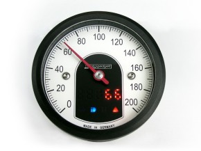 Tacho MOTOGADGET motoscope TINY, schwarzer Ring