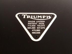 TRIUMPH Motorplakette / Typenschild