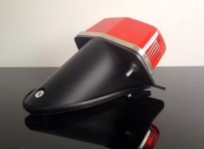 LUCAS-Style RÜCKLICHT mit schwarzem Halter, kleine Version