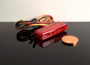Micro-LED Rücklicht/Taillight Streifen, rot, e-geprüft