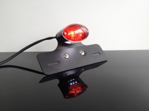 Cateye LED tail-light with alloy holder black