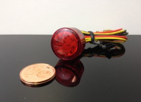 Mini-LED Rücklicht/Taillight RUND, rot, e-geprüft