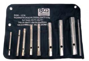 Rohrsteckschlüsselsatz, 6x7-20x22 mm, 8-tlg.