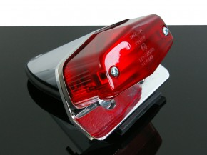 LUCAS-Style taillight + holder, small version, chrome