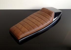 Cafe-Racer, Scrambler SEAT, universal, darkbrown/vintage leather, black stitching