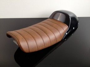 Cafe-Racer-,Scrambler-SEAT/BENCH, Honda CX 500,CX500, Vintage-brown, incl. COVER