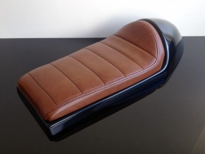 Cafe-Racer SEAT, universal, brown leather
