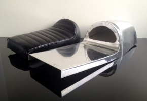 Racing seat Ducati IMOLA style for classic / cafe-racer, alloy