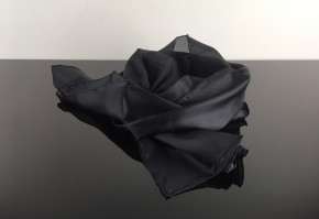 Cafe-Racer SCARF, black, pure silk