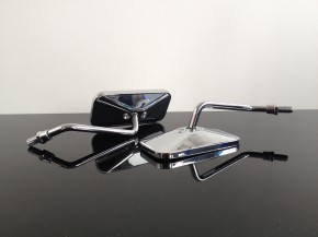 2x CAFE-RACER mirrors, chrome
