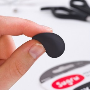 SUGRU formbarer Kleber / Gummi. 3 Stück, schwarz