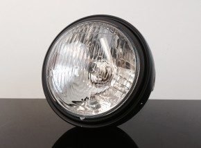 Classic head light / headlamp, semi-dull black