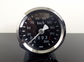 Mini-Tachometer TACHO speeo, CHROM, 48mm, k=1,4 f.JAPANER!