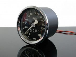 Mini-Tacho, Tachometer f. BMW, 48mm, R 65 80 100 RT RS /5 /6 /7 140 Miles per hour!