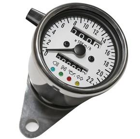 TACHO Tachometer SPEEDOMETER, 60mm mit Kontrollleuchten, K=1,4