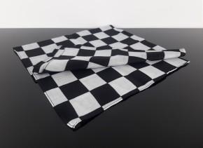 Cafe-Racer HALSTUCH, schwarz/weiß, große Karos, Baumwolle