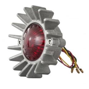 LED-RÜCKLICHT im Krümmersterndesign, Aluminium silber