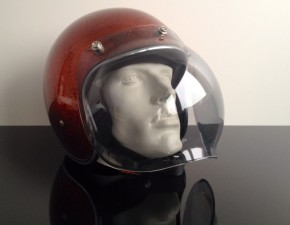 Bubblevisor / Windschild für Jethelm / HELM, grey / smoke