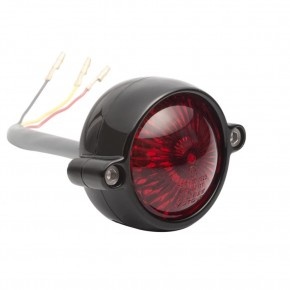 TAIL LIGHT, homologated, alloy, black