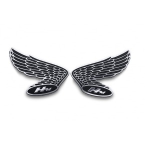 2 HONDA Wings Fuel Tank / Side Panel Emblems, alloy