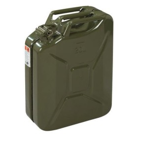 BENZINKANISTER, Kanister aus Metall, 20 Liter, army green