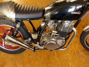 "VA-KRÜMMER ""Under Engine"" down pipe YAMAHA SR500/SR 400/500"