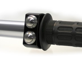 "SWITCH CONTROL for 1 inch handlebars, ""m.switch"" by Motogadget, black anodized aluminium, with 3 push buttons off stainless steel"
