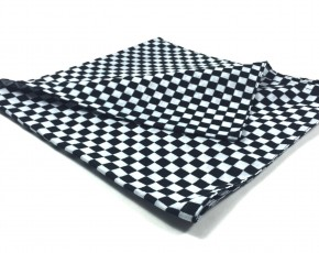"Cafe-Racer SCARF ""Checkered Flag"", pure cotton"