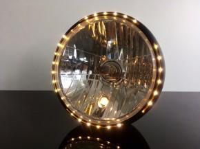 Scheinwerfer glänzend schwarz mit LED Standlichtring