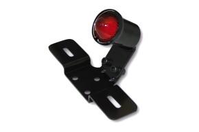 SHIN YO LED-Rücklicht OLD SCHOOL TYP3, schwarz, rotes Glas, mit Nr.-Schildhalter