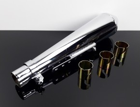 Muffler SILENCER Exhaust, short, Norton Commando Stil