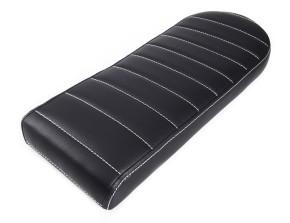 Cafe-Racer, Scrambler SEAT, universal, black leather, white stitching