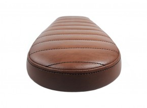 Cafe-Racer, Scrambler SEAT, universal, darkbrown/vintage leather, black stitching