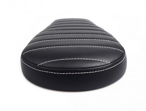 Cafe-Racer, Scrambler SEAT, universal, black leather, white stitching