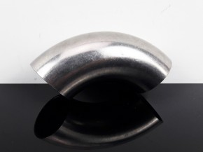 EXHAUST PIPE, bending, stack, stainless steel, 90 degree, app. 38mm