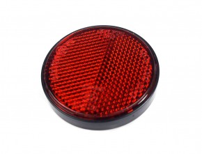 REFLECTOR, cat's eye, round, red, e-marked