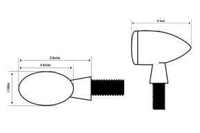HIGHSIDER LED-Rücklicht MICRO-BULLET, schwarz, getönt