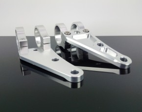 2 alloy HEADLIGHT BRACKETS, 35mm, silver